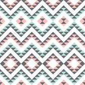 picture of eastern culture  - seamless pattern with ethnic geometric ornament - JPG