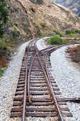 picture of train track  - Train tracks near the town of Alausi Ecuador - JPG