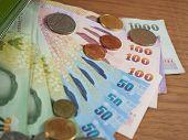 image of copper coins  - Thai Baht Money - JPG