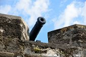foto of cannon  - Fortress Cannon at  Castle of San Marcos historic St - JPG