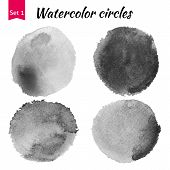 stock photo of  art  - Watercolor art compilation significant grain and grunge vintage dark art bit mapped graphics - JPG