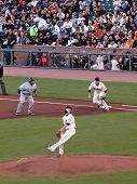 Brewers Prince Fielder Takes Lead At 1St As Tim Lincecum Steps Into A Throw