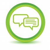 pic of intercourse  - Green round volumetric icon with two chat bubbles - JPG