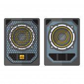 foto of subwoofer  - vector professional tour array subwoofer loudspeakers flat design illustration white background - JPG