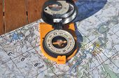 stock photo of cartographer  - Compass map - JPG