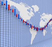 stock photo of profit  - World Wide Indicating Stock Market And Profit - JPG