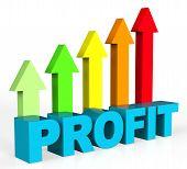 foto of profit  - Increase Profit Indicating Progress Trading And Profits - JPG