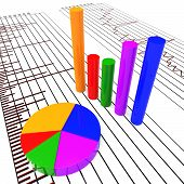 stock photo of trade  - Graph Report Meaning Company Trading And Trade - JPG