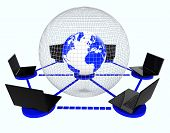pic of globalization  - Global Computer Network Representing Communication Globalisation And Globalize - JPG