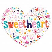 picture of sweethearts  - sweetheart heart shaped typography love lettering design - JPG