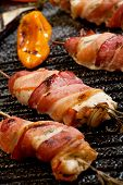 stock photo of grill  - Grilled bacon - JPG