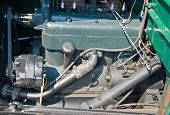 Original vintage car engine