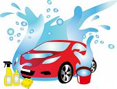 foto of car wash  - The car on a sink in a water environment - JPG