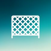 image of ice hockey goal  - Ice hockey goal net icon thin line for web and mobile - JPG