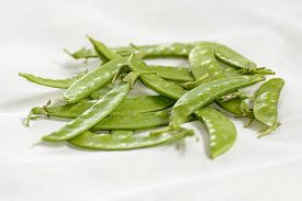stock photo of pea  - A pea is a most commonly green - JPG