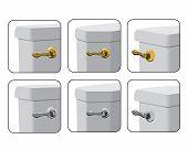 Alavancas de tanque de WC