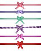 ribbon bow over white background
