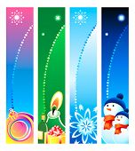 Colorful Christmas banner or sider backgrounds. Base banner size is 120x600.