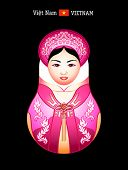 Matryoshkas of the World: vietnamese girl in ao dai dress