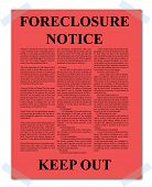 Posted Foreclosure Notice