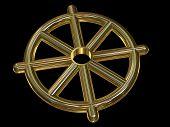 Buddhist Wheel Symbol (dharmachakra)