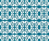 Antieke scroll naadloze blue wallpaper