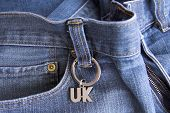 Jeans And Uk Key Ring