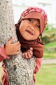 Playful Muslim Child