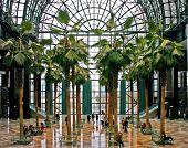 Interior of Winter Garden building in New York City