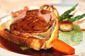 stock photo of beef wellington  - Delicious Beef Wellington at the Fancy Restaurant - JPG