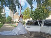 White Limo For A Bride