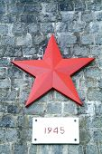Monument With Red Star poster