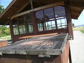 Picnic Shelter BBQ Grill
