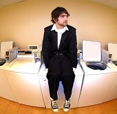 Sitting On A Laundry Machine