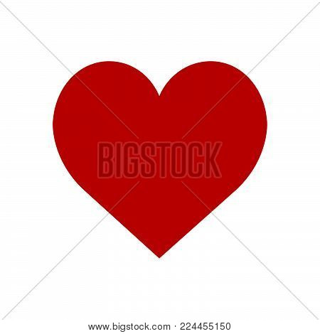 Heart Icon Isolated On White Background Heart Icon Modern Symbol