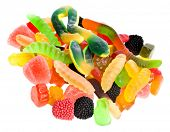 assortment of colorful jelly candy