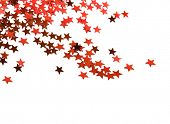 Estrela de Natal com espaço de cópia para o seu texto sobre um fundo branco