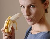 Woman Eating Bananna