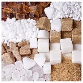 picture of white sugar  - Sugar - JPG
