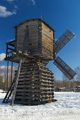 Wooden Wind Mill On North Of The Europe