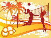 beach volley background