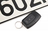 Remote Controlled Car Key And Registration Plate