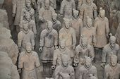 image of qin dynasty  - an array of chinese terracotta warriors from xi - JPG