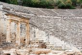 pic of epidavros  - Detail of the historical arena in Epidavros - JPG