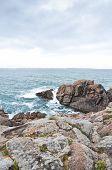 Sea And Rocks On Brittany Coast