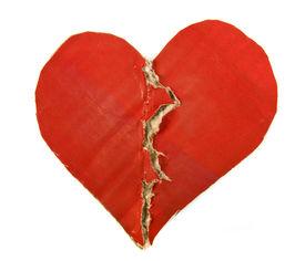 foto of broken-heart  -  Red Paper Broken Heart isolated on white background - JPG