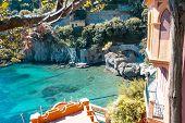 The Villas Near Portofino In Italy At Summer. Liguria poster