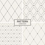 Set Of Four Seamless Patterns. Abstract Geometric Trendy Vector Backgrounds. Modern Stylish Textures poster
