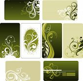 pic of floral design  - illustration drawing of floral background with grunge texture - JPG