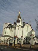Russia, Moscow. Church of the Resurrection in Sokolniki